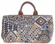 Univerzální kožená italská kabelka Vittoria Gotti Geometric Multicolor