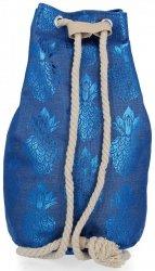 Módní Dámské Batohy vzor v ananasu Modrý
