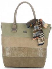 Dámská kabelka kufřík David Jones Khaki