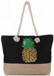 Plážová dámská kabelka Černá