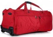 Cestovní taška na kolečkách s teleskopickou rukojetí renomované firmy Davi jones červená