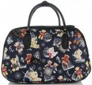 Velká cestovní taška kufřík Or&Mi medvědi Multicolor - Tmavě modrá