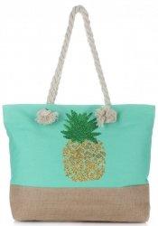 Plážová dámská kabelka tyrkysová