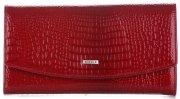 Dámská kožená peněženka Lak Nicole červený