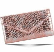 Elegantní Dámská peněženka Diana&Co Firenze hadí vzor Rose Gold