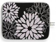 Módní Pouzdro pro Tablet 12'' vzor v květech Černé