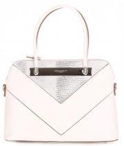 Elegantní Dámská kabelka kufřík David Jones Bílá