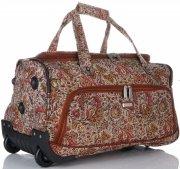 Velká Cestovní taška na kolečkách s teleskopickou rukojetí renomované firmy Madisson Multicolor - Čokoláda