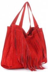 Dámské kabelky Vittoria Gotti Univerzální XL Boho červená