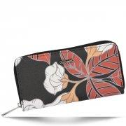 Dámská Peněženka XL David Jones vzorek v květinách Multicolor Černá