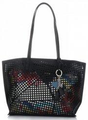 Univerzální Dámské kabelky s kosmetikou David Jones ažurová Černá 20b4407644c