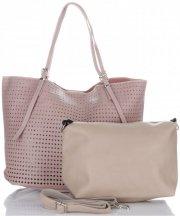 Univerzální Dámské kabelky s kosmetikou David Jones ažurová Růžová