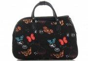 Malá cestovní taška kufřík Or&Mi vzor v motýlech Multicolor - černá