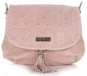 kožená kabelka listonoška Vittoria Gotti světle růžová