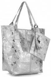 Kožené kabelky Shopper bag Lakované Iron