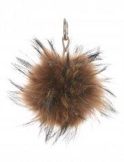 Přívěšek ke kabelce Pompon z přírodního vlasu mýval hnědý