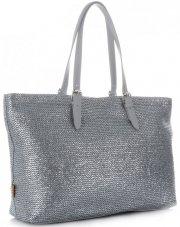 Módní Dámské kabelky XL David Jones Stříbrná