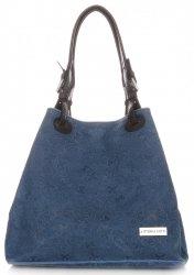 Univerzální kožená italská kabelka Vittoria Gotti Jeans