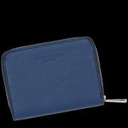 Vittoria Gotti Dámská Kožená Peněženka Made in Italy Tmavě Modrá