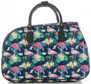 Velká cestovní taška kufřík Or&Mi Plameňáci Multicolor - Tmavě modrá