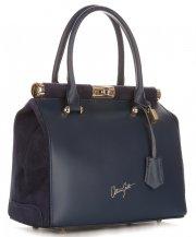 Kožené kabelky kufříky VITTORIA GOTTI Tmavě modrá