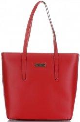 Klasické Kožené Kabelky Vittoria Gotti Made in Italy červená