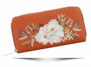 Dámská Peněženka XL David Jones vzorek v květinách Multicolor Oranžová