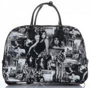 Cestovní taška na kolečkách s výsuvnou teleskopickou rukojetí Or&Mi Berlin Multicolor - černá
