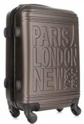 Módní Palubní kufřík Or&Mi Paris/London/NewYork 4 kolečka staré zlato