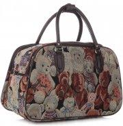 Velká cestovní taška kufřík Or&Mi Teddy Bear Multicolor - béžová