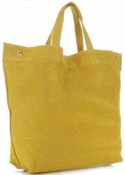 Univerzální Dámské kabelky ShopperBag XL Vera Pelle Žlutá