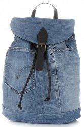 Ponadczasowy Jeansowy Plecak Damski frmy Vittoria Gotti Ciemny Jeans