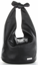 Vittoria Gotti Made in Italy Modny Shopper XL z Kosmetyczką Uniwersalna Torba Skórzana na co dzień Czarna