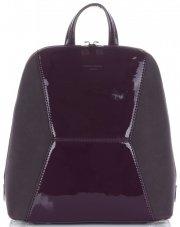 Uniwersalne i Eleganckie Plecaczki Damskie firmy David Jones Śliwkowy