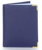 Skórzane Etui na karty firmy David Jones Niebieskie