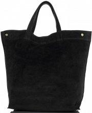 Włoski Skórzany Shopper XL firmy Vera Pelle Czarny