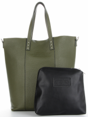 Vittoria Gotti Firmowy Shopper Made in Italy z Kosmetyczką Zielony