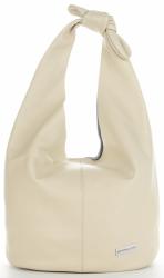 Vittoria Gotti Made in Italy Modny Shopper z Kosmetyczką XL Uniwersalna Torba Skórzana na co dzień Beżowa