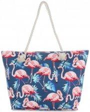 Uniwersalna Plażowa Torba Damska XXL Flamingi firmy Scarf's Multikolor Jeans