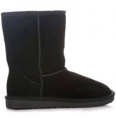 Kožené Dámské boty sněhule černé
