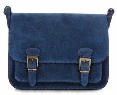 kožená kabelka listonoška Genuine Leather Modrá