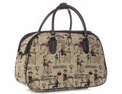 MALÁ cestovní taška kufřík Or&Mi Chocolatier Multicolor - béžová