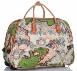 Cestovní taška na kolečkách s výsuvnou teleskopickou rukojetí Or&Mi World Multicolor - Zelená