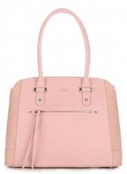 Dámská kabelka kufřík DAVID JONES Světle Růžová