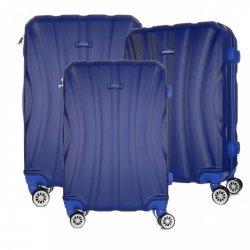 Super sada italských kufrů Or&Mi 3 v 1 modrá