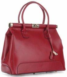 Kožené kabelky kufříky XL Genuine Leather červený