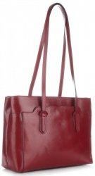 Kožené klasické kabelky červená