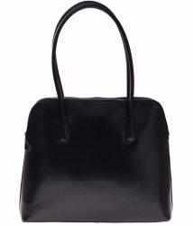 Univerzální kožená kabelka 2 přihrádky černá
