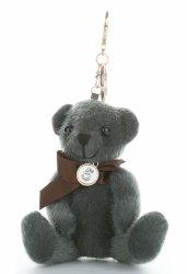 Přívěšek ke kabelce elegantní medvídek tmavě zelená