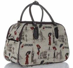 Średnia Torba Podróżna Kuferek Or&Mi London Multikolor - Beżowa